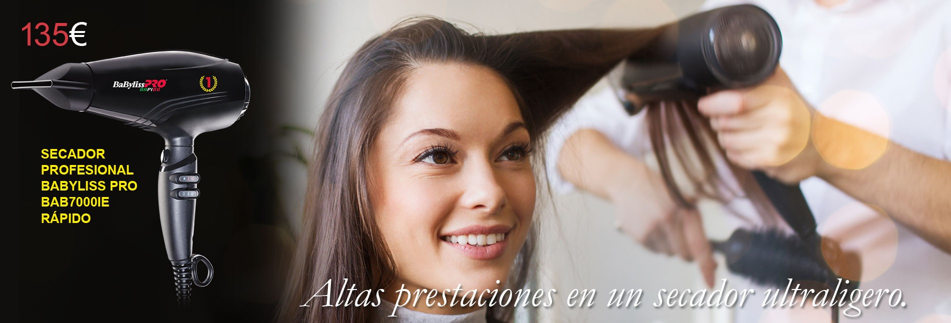 Secador profesional Babyliss Pro BAB7000IE