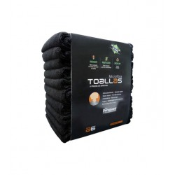 Toallas Microfibra Asuer Group Negras Pack 10